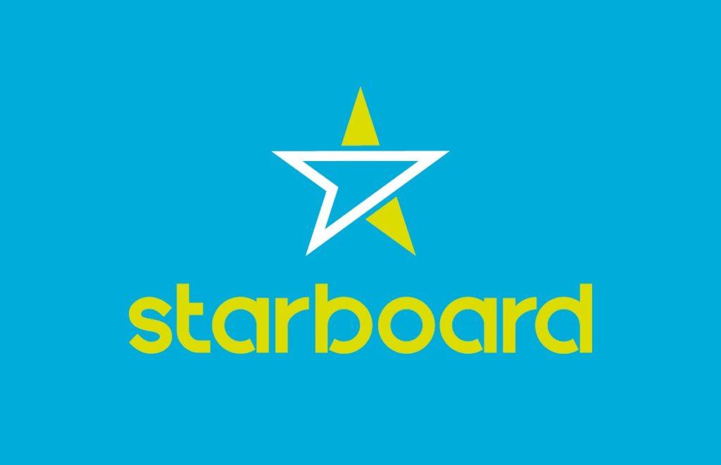 Starboard logo - White Wake sailing